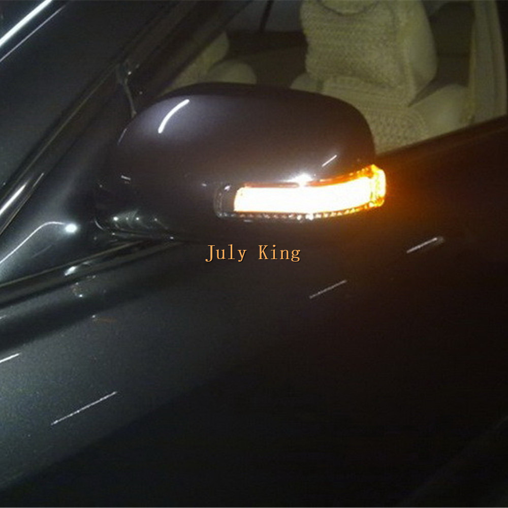 July King LED Rear-view Mirror Lights case for Toyota Camry Corolla Axio Auris Vios; White DRL + Side Turn Signals + Ground Lamp