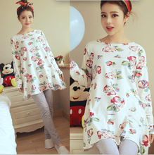 Breastfeeding nursing dress top pajamas long sleeve nightie maternity feeding clothes Dresses for pregnant women maternity-dress