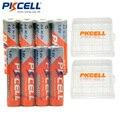 2500MWH PKCELL NIZN 1.6 V 4 Pcs AA Baterias + 4 Pcs 900MWH AAA Bateria Baterias Bateria Recarregável com 2 Mantenha a bateria Caixa Caso