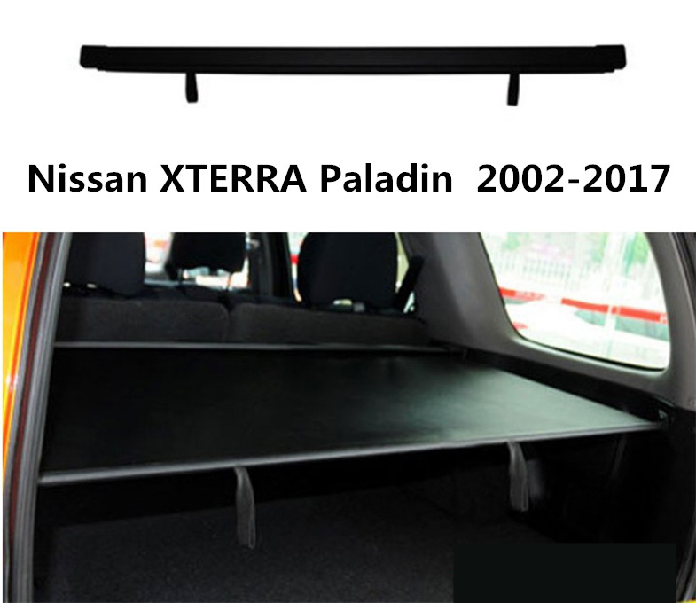 For Nissan XTERRA Paladin 2002-2017 Rear Trunk Security Shield Cargo Cover High Quality Car Trunk Shade Security Cover for nissan xterra paladin 2002 2017 rear trunk security shield cargo cover high quality car trunk shade security cover
