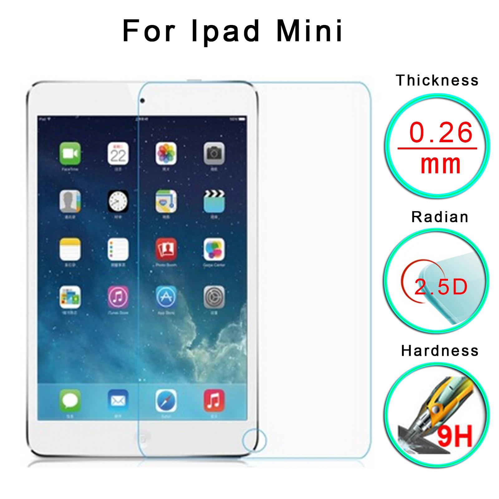 For Apple IPad Mini 1 2 3 9H Clear Premium Tempered Glass Screen Protect Film HD Anti-fingerprint Protective Film