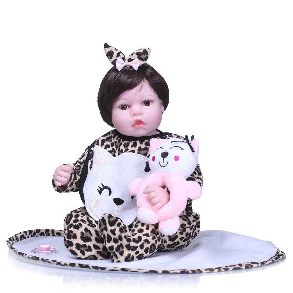 цена NPK Lifelike Reborn Baby Dolls Silicone Vinyl Body Kids Playmate Gift For Girls Babies Alive Doll Soft Bebe Reborn Kids Toys