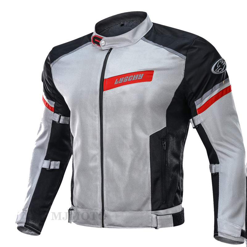 Motorcycle Jacket Summer Men Breathable Mesh Racing Protective Gear Removable Protector Retro Moto Jacket Riding Clothing M-3XL