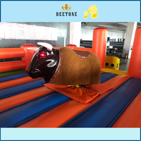Interesting design indoor outdoor inflatable bull fight games for adults for sale