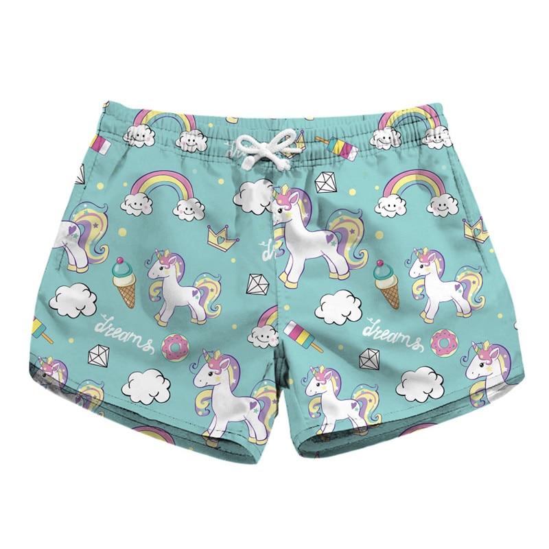 New Women's High Waist Shorts Summer Beach Style Casual Shorts Fruit Ice Cream Santa Claus Unicorn Shorts 3D Print Sweatpant