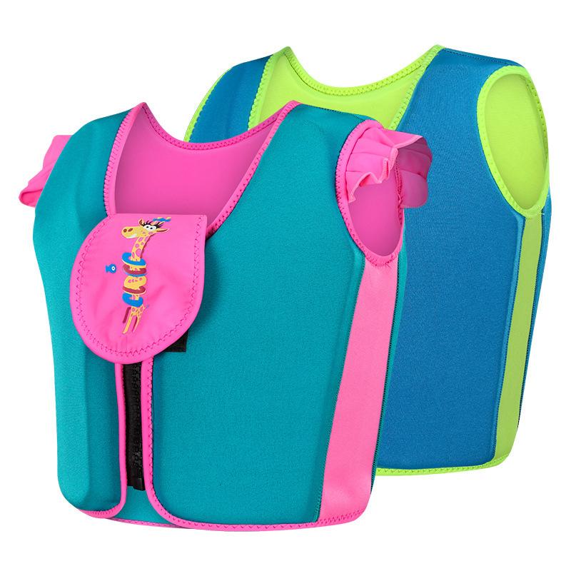 New Kids Age 1-9 Carton Life Jacket Drifting Floating Boy Girl Foam Floating Water Sports Swimming Buoyancy Baby Safty Life Vest
