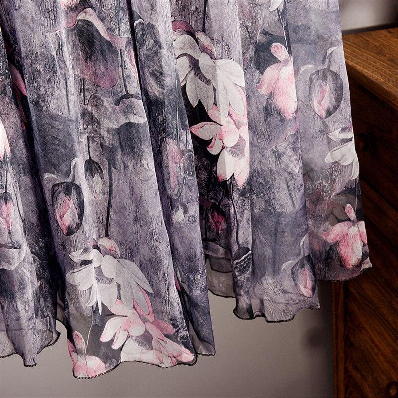 d6c15538f7 Elegant Summer 2019 Women Long Skirt Chiffon Saia Beach Bohemian Maxi Skirts  High Waist Tutu Casual Vestidos Harajuku Print-in Skirts from Women's  Clothing ...