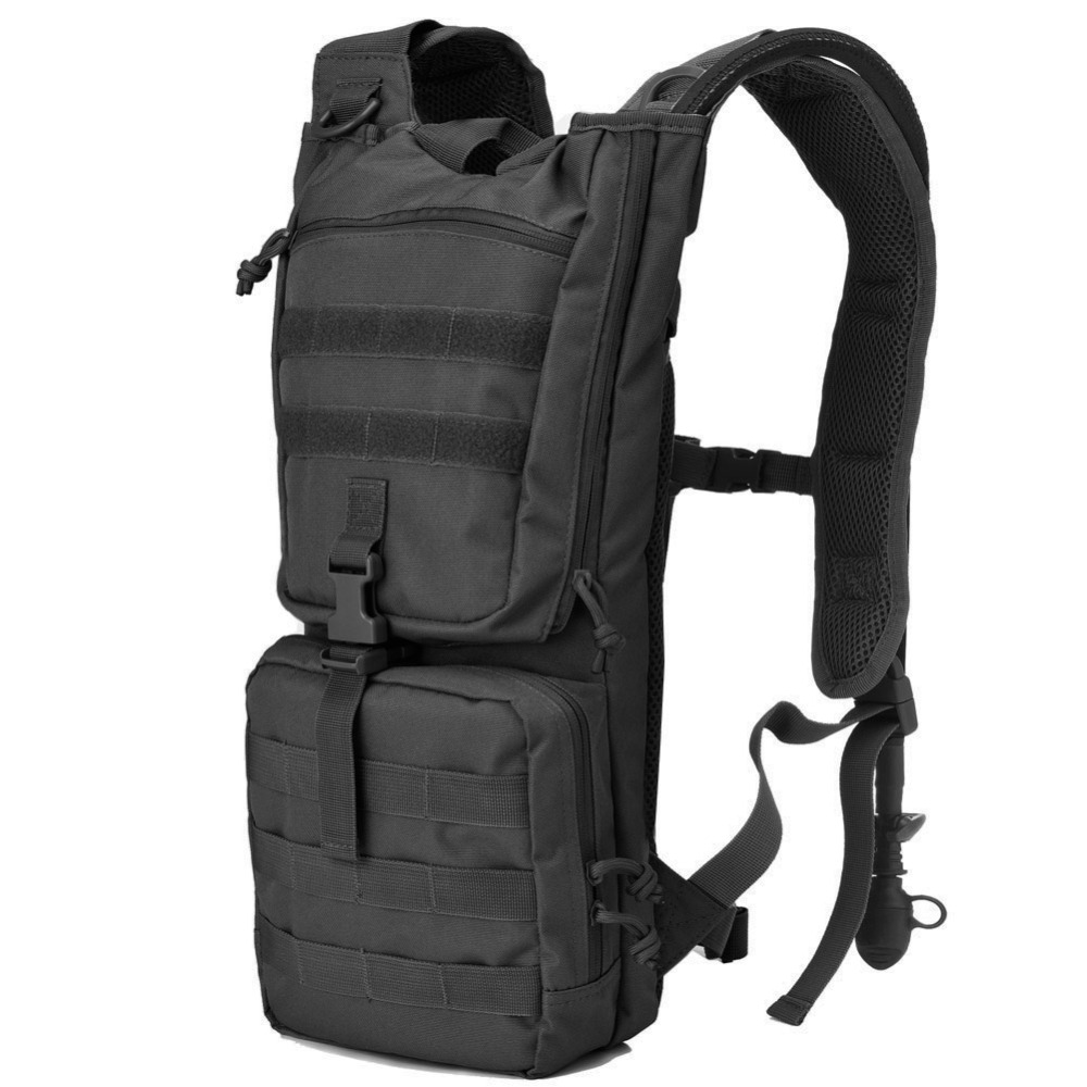 Tactical Hydration Pack Backpack with 2 5L BPA Free Water Bladder Outdoor Military Army Airsoft Molle