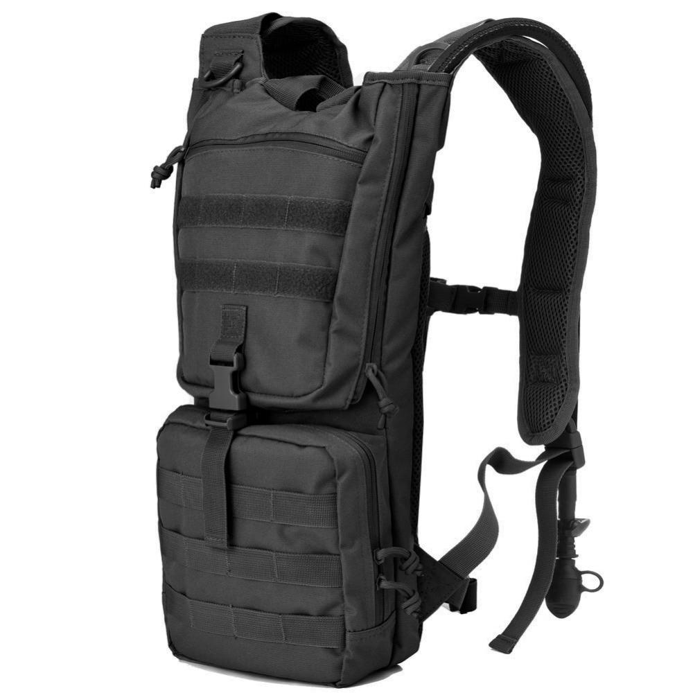 Sac à dos de paquet d'hydratation tactique avec la vessie d'eau libre de 2.5L BPA, sacs à dos d'hydratation Molle d'airsoft d'armée militaire extérieure