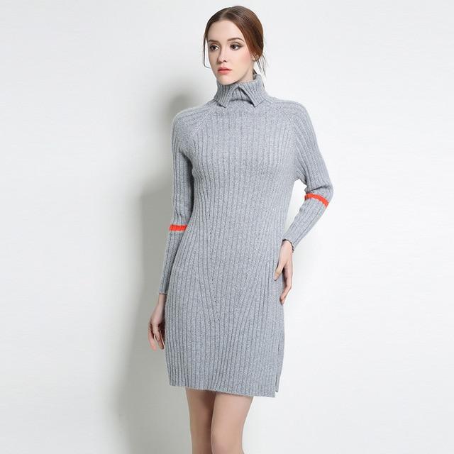Xl Xxxl Xl Xl Plus Size Sweater Dress  New Women Long Sleeve Turtleneck Autumn