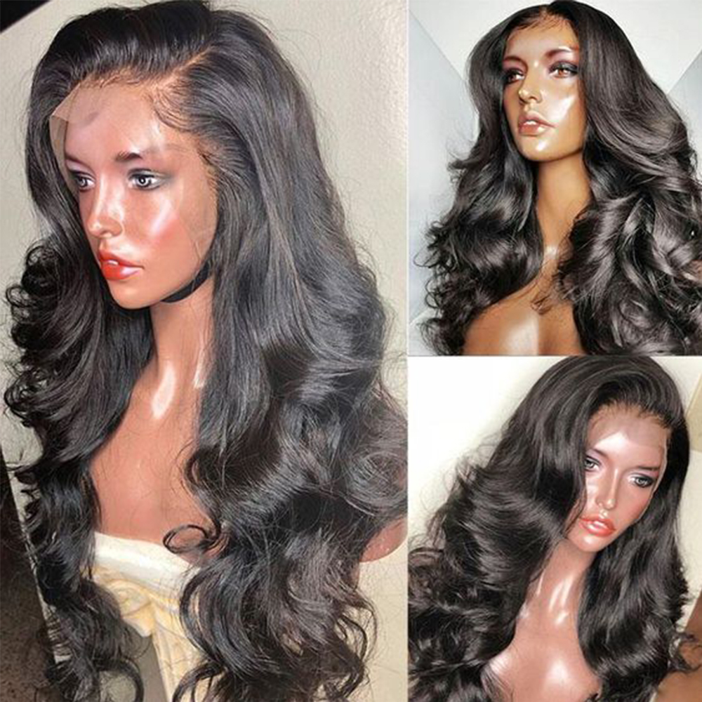 PAFF 4*4 Silk Base Glueless Human Hair Full Lace Wig 180% Remy Brazilian Body Wave Hair Silk Top PrePlucked Hairline-in Human Hair Lace Wigs from Hair Extensions & Wigs    1