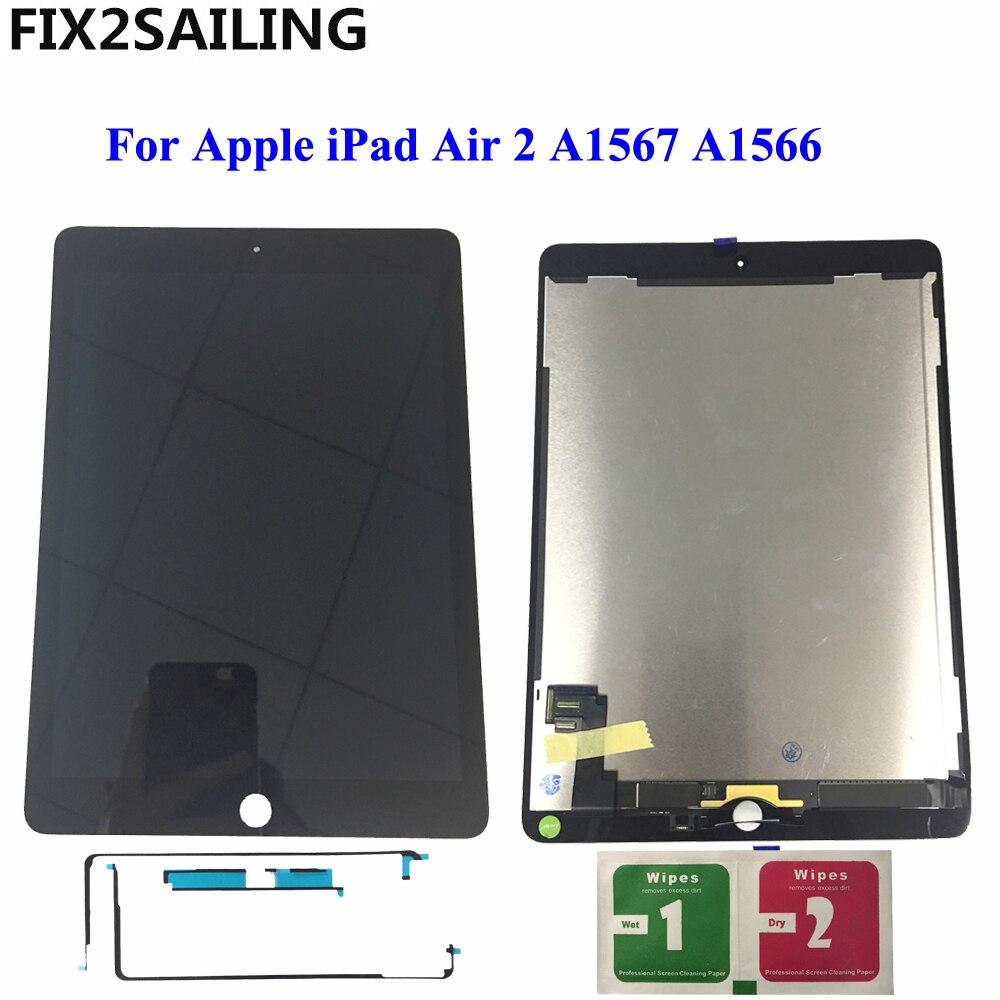 9,7 ЖК-дисплей для Apple Ipad 6 Air 2 A1567 A1566 9,7'' 100% AAA + Класс ЖК-дисплей Дисплей Сенсорный экран планшета Ассамблеи Замена