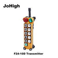 JoHIgh F24 10D Double speed Crane remote controller switch 10 Channels keys 1 transmitter