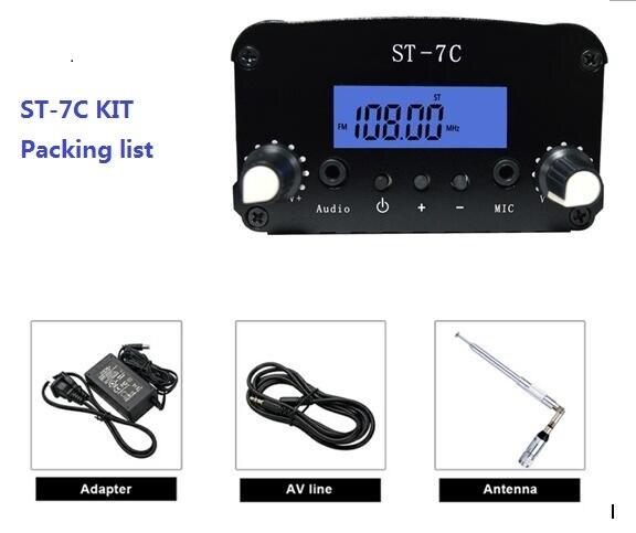 Стереофонический передатчик PLL, 7 Вт/1 Вт, с маленькой антенной, источник питания