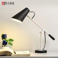Современные длинные кулисой Регулируемый классические настольные лампы E27 светодиодный клип Настольная лампа для изучения офис чтения Ноч