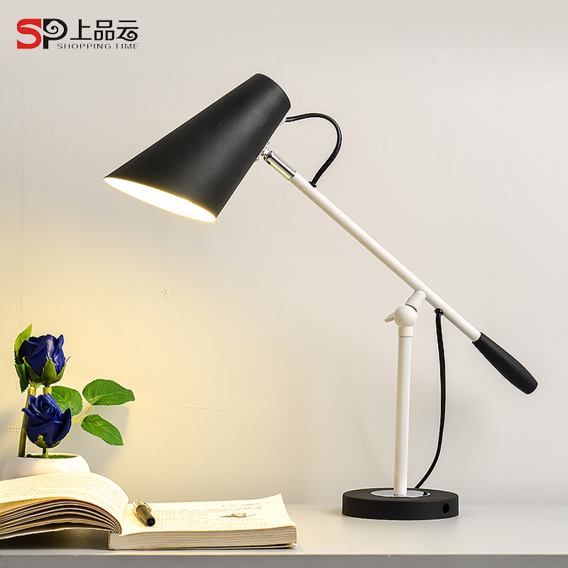 Modern Long Swing Arm adjustable classic desk Lamps E27 LED clip Table Lamp for study Office Reading night Light bedside bedroom modern industrial style table lamps lights for bedroom bedside folding desk lamp clip dimmer led light clamp lampshade abajur