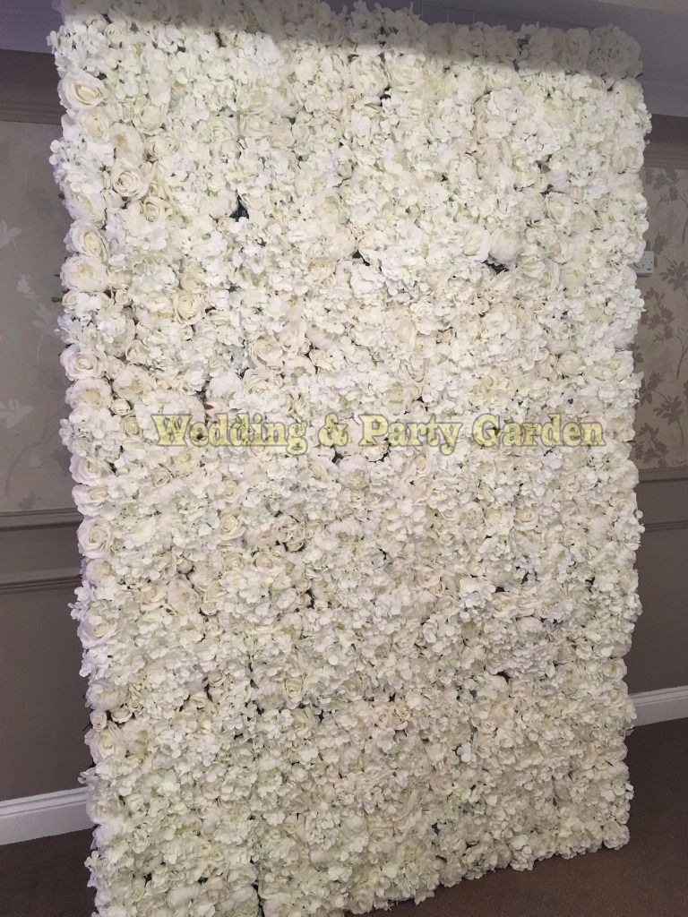 2 4m X 2 4m Ivory Wedding Flower Backdrop Flower Wall
