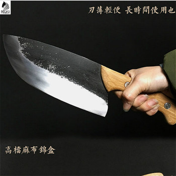 PEGASI High carbon steel forging knife, fish slicing knife, butcher knife, boning knife made by chef of the whole tang dynasty pegasi hand forged all tang sharp bone picking knife high hardness chef sliced knife fish knife outdoor knife hunting knife
