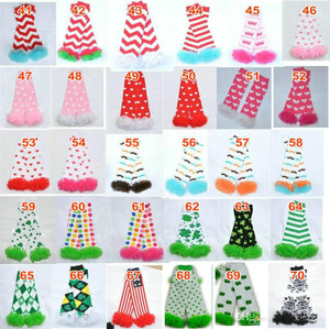 Image 1 - 200styles Baby Ruffled Leg Warmers Infant Xmas Halloween Holiday chiffon ruffle Leggings warm knee pads