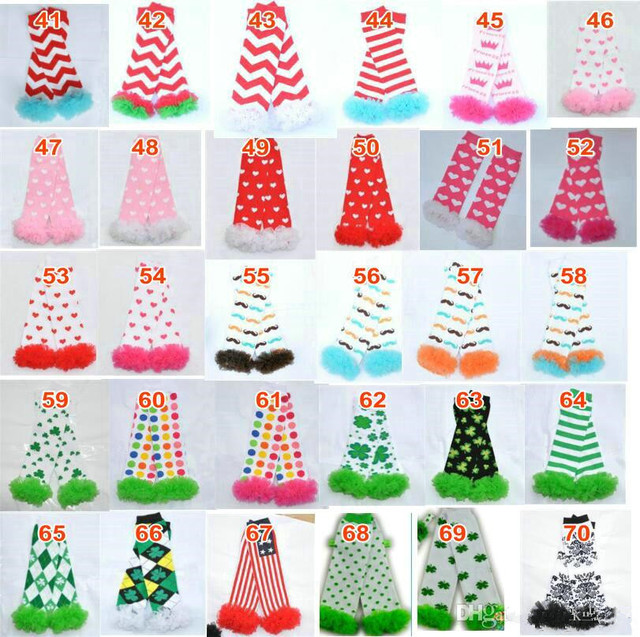 200styles Baby Ruffled Leg Warmers Infant Xmas Halloween Holiday chiffon ruffle Leggings warm knee pads