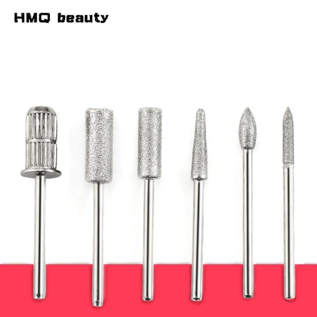 6 Type Diamond Nail File Drill Bit Burr Milling Cutter Manicure ...