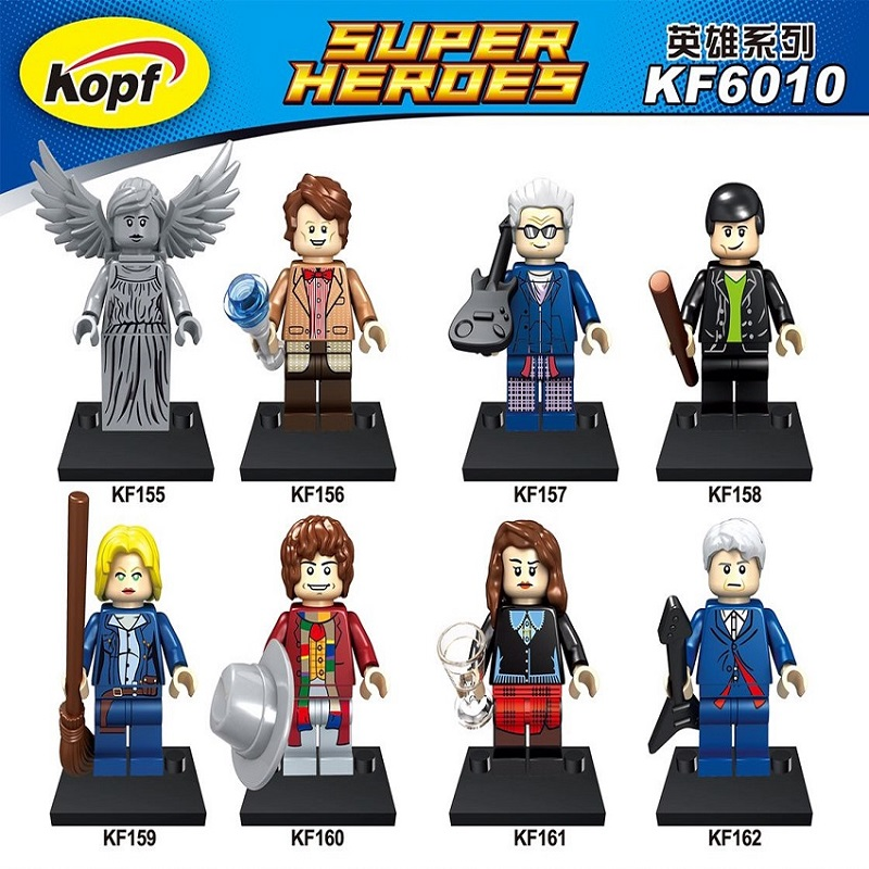 Super Heroes Dr.Who figures River Song Matt Smith Peter Capaldi Tom Baker Weeping Angel Building Blocks Children Gift Toy KF6010 скатерть angel ya children tsye zb266 88