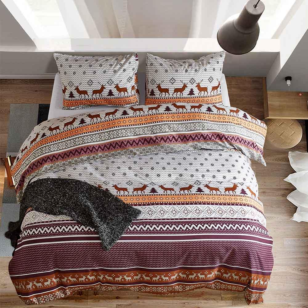 Niobomo Bedding Polyester Duvet Cover Set Us King Queen