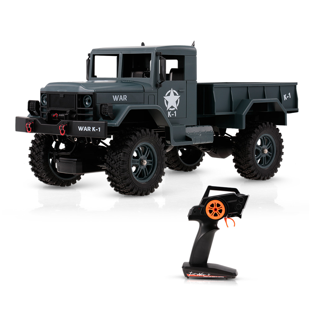 WLtoys 124301 1/12 2.4GHz Remote Control Cars 4WD 1200G Load MilitaryCar Truck Off-road SUV RC Car with 3.7v 1200mAh batteryWLtoys 124301 1/12 2.4GHz Remote Control Cars 4WD 1200G Load MilitaryCar Truck Off-road SUV RC Car with 3.7v 1200mAh battery