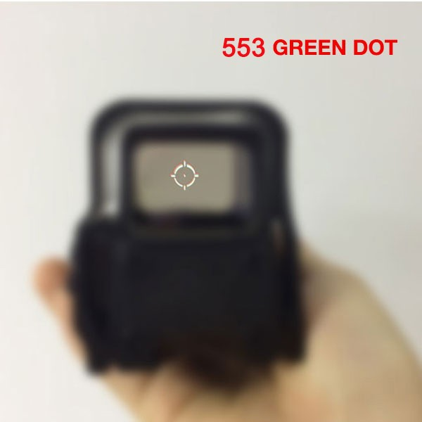 553 Quick Detachable Holographic Sight Short style Red&Green Dot Sight Rifle Hunting Scope with 20mm Rail Mounts for Airsoft 556 a sight style holographic red