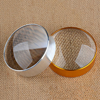 EYESHOT 6X Domed Magnifying Glass 60mm 2 4 Golden Desktop Paperweight Magnifier Reading Aid For Small
