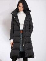 Short Front Women Winter Down Coat Hooded Duck Down Jacket Women Long Winter Coat Any Size