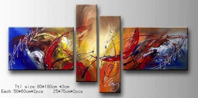 Free Shipping!!High Quality Modern Abstract Oil Painting on Canvas Art home decoration christmas gift 535 picture on wall
