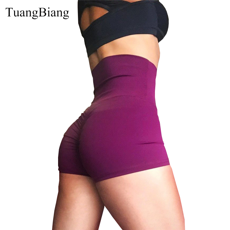 2018 Women Butt outdoor sports   Shorts   Fitness Draped Workout Elastic Waist Sexy Booty   Shorts   Ladies Skinny Gyms Yogaing Leggins