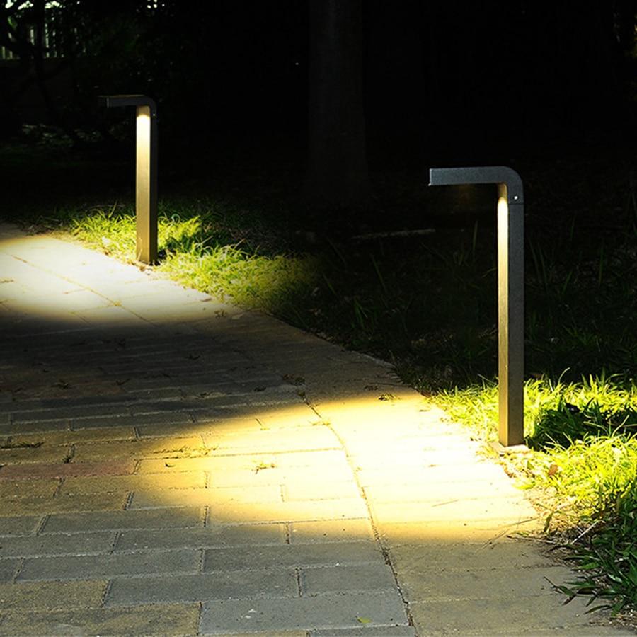Thrisdar открытый сад тропинка полюс световой столб алюминиевый Ландшафтный для внутреннего двора вилла газон лампы Парк улица крыльцо световой столб