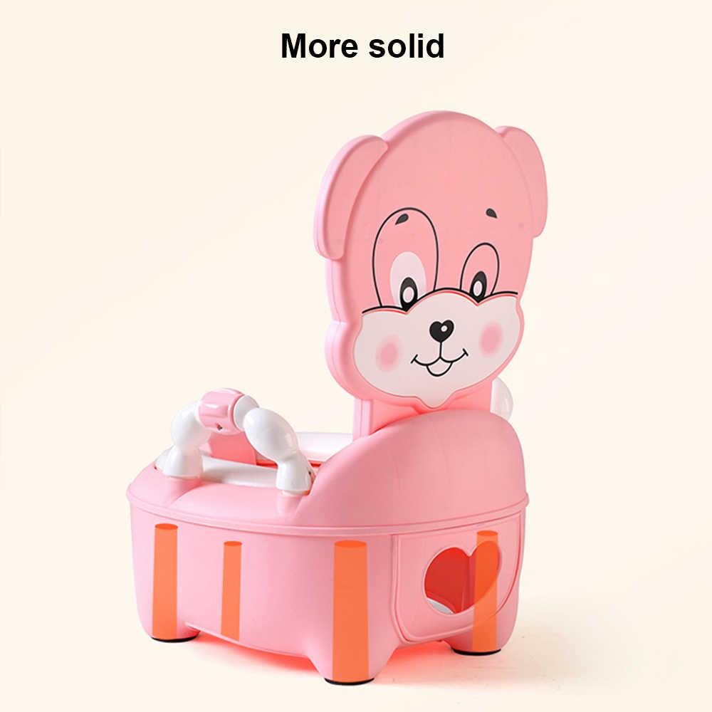 Новый детский горшок, обучающее сиденье, Детский горшок, туалет, мультяшная панда, детский унитаз, тренажер для унитаза, портативный писсуар, спинка, горшок
