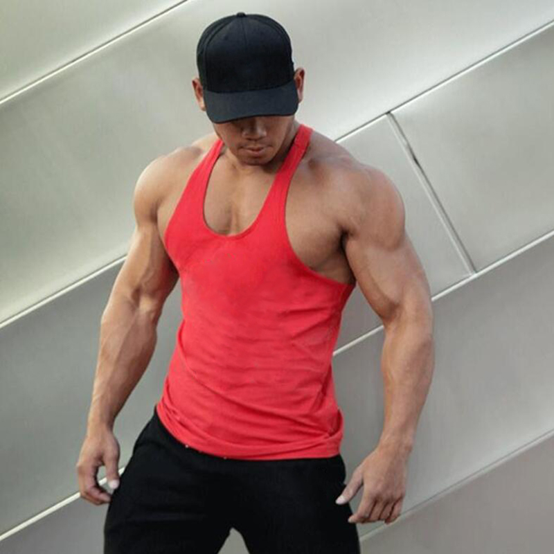 Muscleguys Brand blank clothing fitness   tank     top   men cotton sleeveless shirt bodybuilding vest solid tracksuits muscle clothes