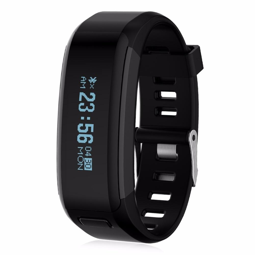 imágenes para NO. 1 F1 Smartband Impermeable Banda de Silicona Deportes Pulsera Heart Rate Monitor Recordatorio Sedentario Con Teléfono Móvil Inteligente