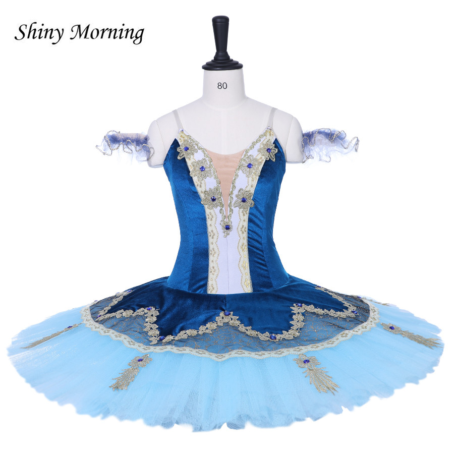 edf0e00e21b8 Women Professional Ballet Tutu Dress blue Adult Classical Ballet Stage Dance  Costume Pancake Performance Tutus Custom