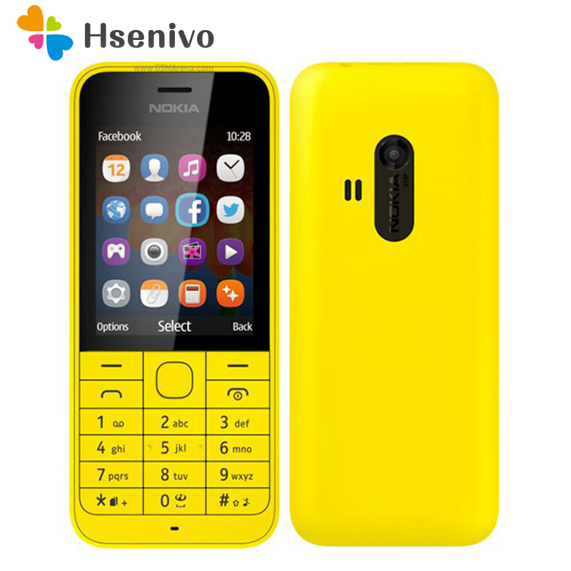 220 Dual Sim Original Nokia 220 Dual Sim Card 2G GSM 1100mAh Unlocked Cheap Celluar Phone Refurbished