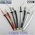 Anime Weapon model One Piece Roronoa Zoro Katana Sword 22 cm Art Metal Keychain Keyring Key Holder