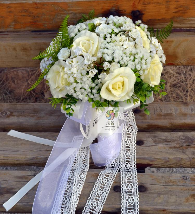 Handmade Wedding Flowers: Handmade New Wedding Bride Holding Flower Bridal Bouquet