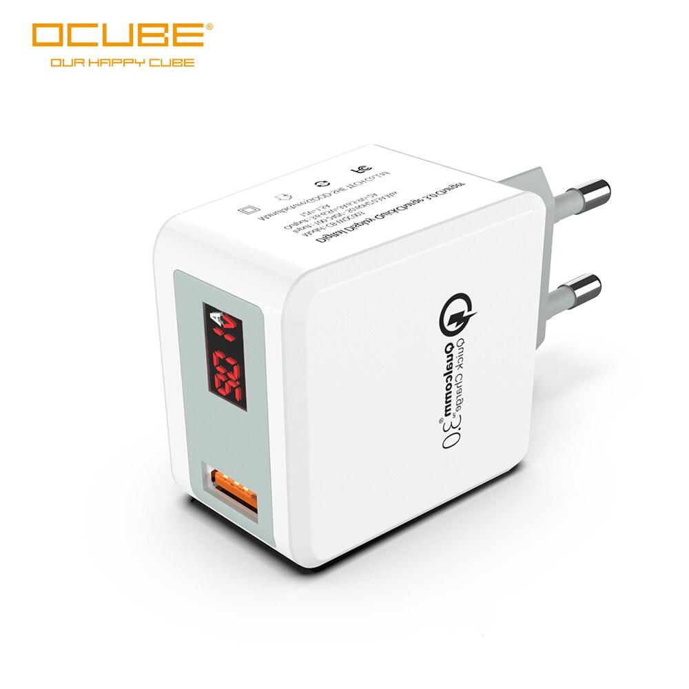 Carga rápida 3,0 Usb 2,0 cargador de pared rápida cargador de viaje Led pantalla de voltaje y corriente del teléfono móvil del enchufe de la UE para la samsung