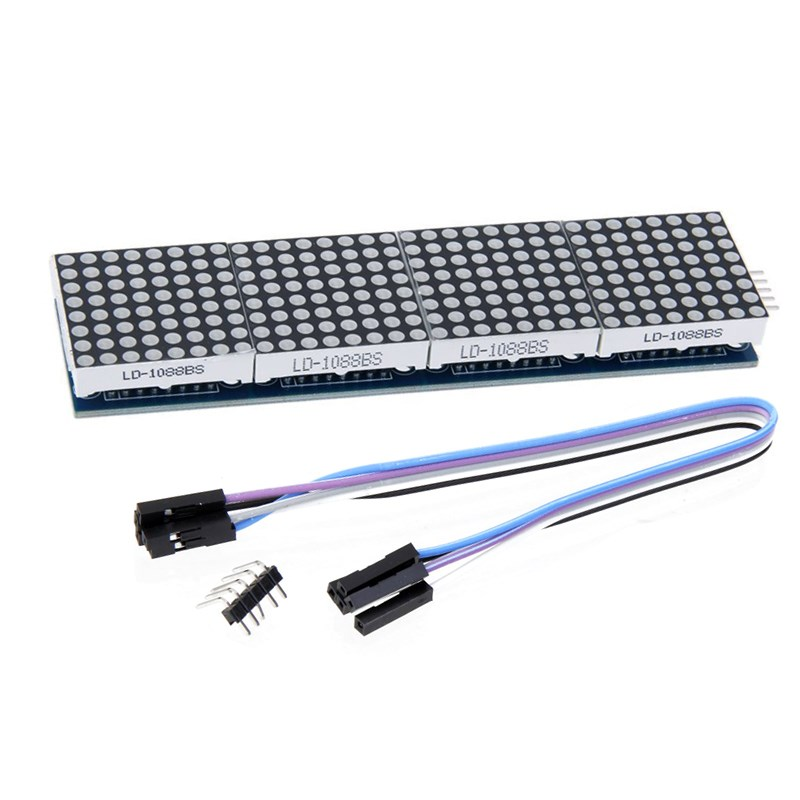 MAX7219 Dot Matrix Module For Microcontroller 4 In One Display with 5P Line
