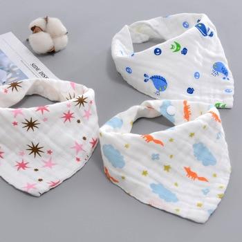 AZEOSHE Baby Bibs Boy Girl Bandana Water Absorb Bib Burp Cloth Triangle Cotton Baby Scarf Burp Baby Christmas Accessories 1