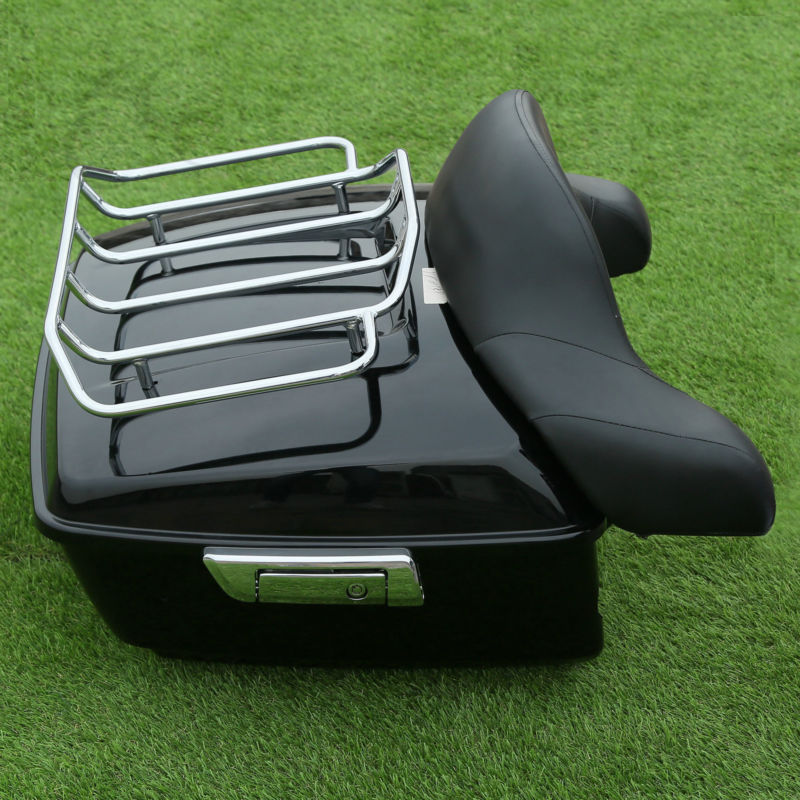 Motorcycle top case King Tour Pak pack Luggage Backrest For Harley Touring  Road King Electra Street Glide 2014-2018 bag trunk