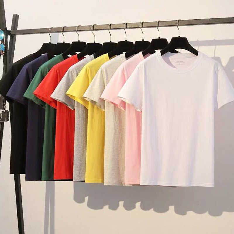 2019 hot sale T Shirt men color 100% cotton Short sleeve off white T-shirts Summer Tshirt Tops European Large size streetwear