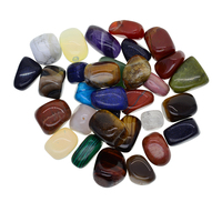 1 lb Natural Crushed Polished Stone DIY Necklace Bracelet Earings Jewellry Findings Medium Size Mix Colored