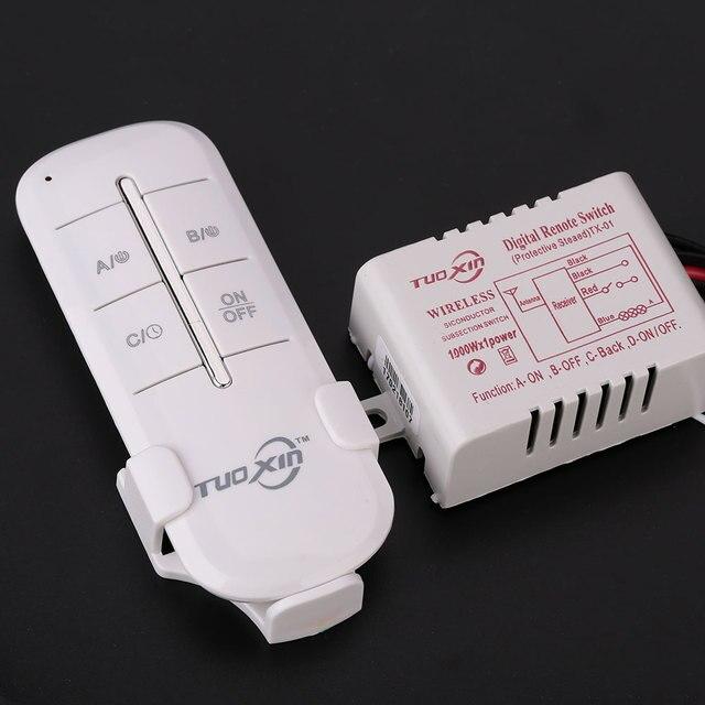 110 فولت 1 قناة طريقة تشغيل/إيقاف الرقمية اللاسلكية ضوء المرآب جدار جديد موزع فصل صندوق تحسين المنزل أدوات يدوية الأدوات المنزلية 1