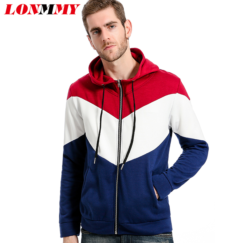 LONMMY Hoodies Men 2018 Brand Male Long Sleeve Hooded Sweatshirt Mens Hoodie Tracksuit Sweat Coat Casual Sportswear jacket New