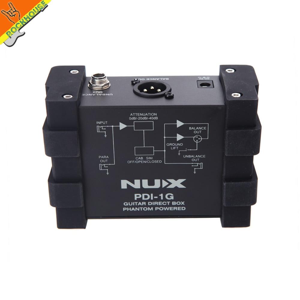 NUX PDI-1G Guitar Line Selector Guitar Direct Injection Phantom Power Box Audio Mixer Para Out Guitarra DI effects free shipping boss audio ls 2 line selector pedal line selector and input output router
